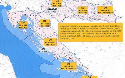 Plan odašiljača DVB-T2 signala!