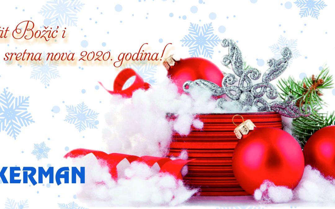 Čestit Božić i sretna nova 2020. godina